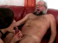 Grandpa and hot girl enjoying nasty Sex