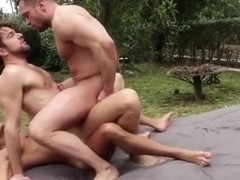 Russian boy flip flop and cumshot