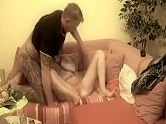 Aged Austrian Couple Doing Softcore Home Made Sex on Sofa