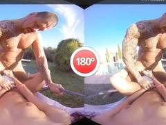 Gala Brown  Rob Diesel in Countryside Pool - VirtualRealPorn