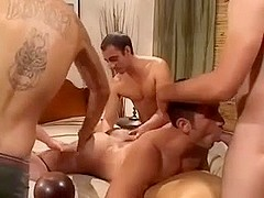 Full of bareback team fuck