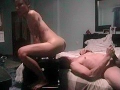 Asian wife cums on her hubby's face