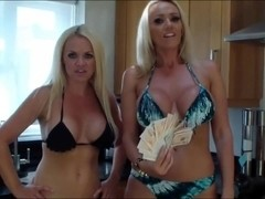 Two Blonde Mistress Make You Suck Cock