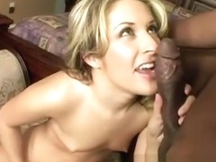Chelsie's hot body succumbs to pleasure as she fucks a long black pole