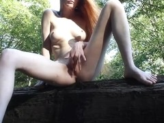 redhead gets pissed on then pees herself