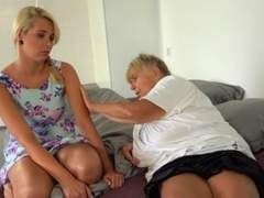 OldNanny - Blonde Granny with her blonde teen girlfriend masturbating