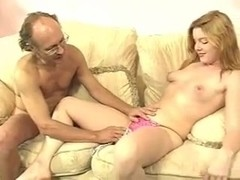 cute blonde doing sex with friends daddy
