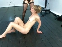 Aiden Starr Mona Wales in Slim Blonde Amateur Covered In Electricity And Ass Fucked Live - Electro.