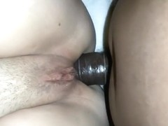 Cock deep in both holes