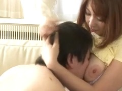 Araki Hitomi deals younger males in superb threesome  - More at javhd.net