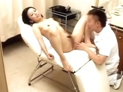 Delicious Asian babe stuffed with dick during Gyno exam