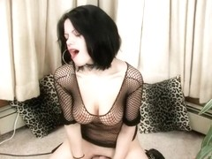 Horny Roxie Rides A Large Sex Machine To Orgasm