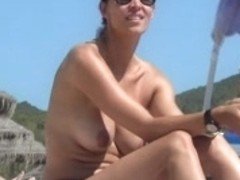 Btb 03 372m Incredible spanish brunette topless beach ibiza