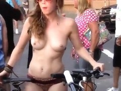 Naked bike ride in Portland