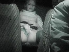 Awesome voyeur cam masturbation on taxi back seat