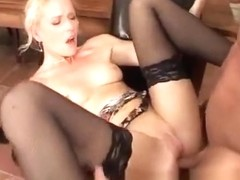 Amber Sky is a hardcore stockings dick sucker
